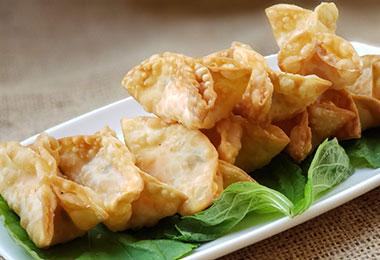 明太クリームチーズ揚げ