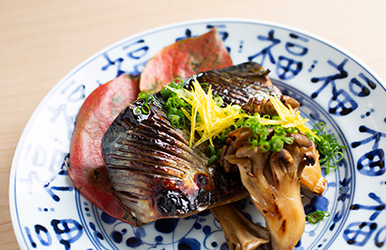 鯖柚子風味焼き